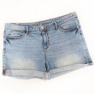 Lauren Conrad Distressed High-Waisted Denim Shorts